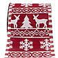 Декоративное украшение - ленточка в рулоне, 3 м, 6,3 см, красный, полиэстер (080556-4), фото 2