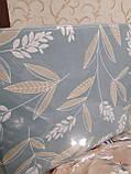 Байковый комплект постельного белья Байка ( фланель) Ветка Сине - серого цвета, фото 2