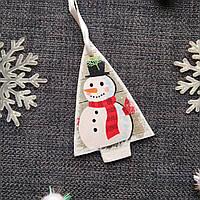 Распродажа!Новогодняя игрушка в форме елки с декупажем на елку ручной работы. Новогодние украшения.