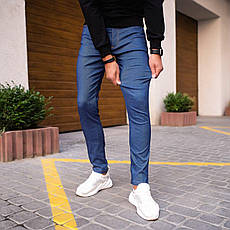 Мужские джинсы Poleteli Pobedov (светло-синие), фото 2