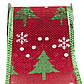 Лента декоративная из полиэстера в рулоне, 6, 3см*3 м, зеленая елка и белая снежинка (080594-2), фото 2