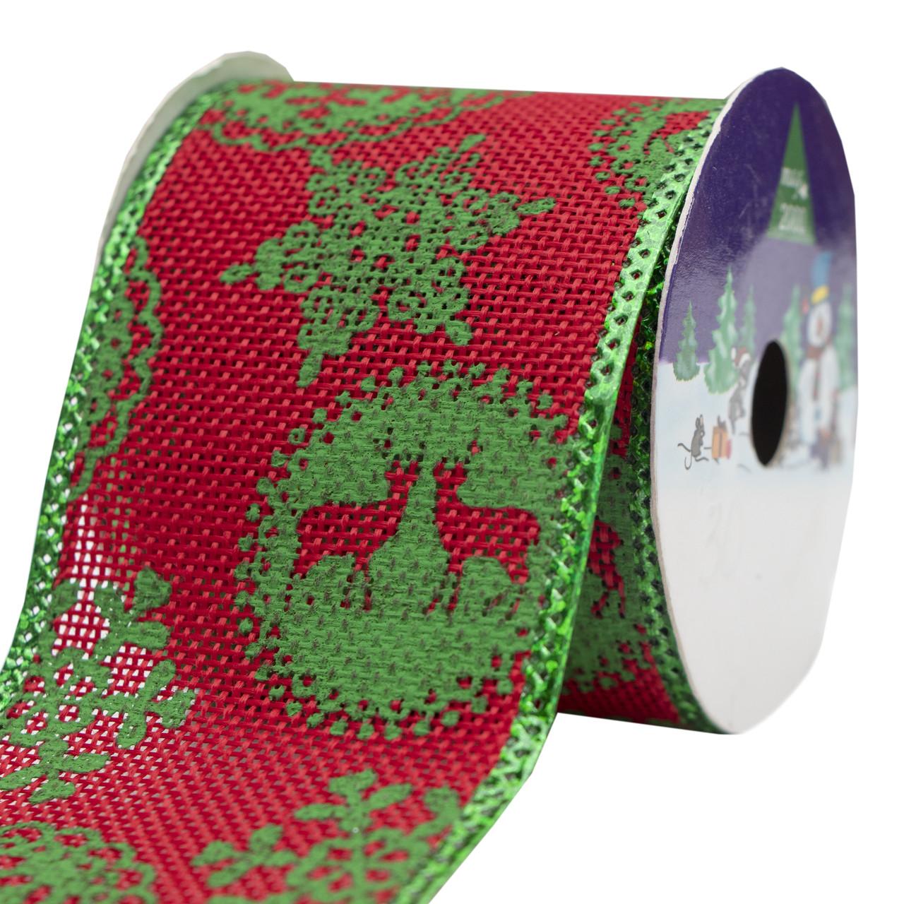 Декоративное украшение - ленточка в рулоне, 3 м, 6,3 см, красный, полиэстер (080594-4)