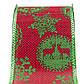 Декоративное украшение - ленточка в рулоне, 3 м, 6,3 см, красный, полиэстер (080594-4), фото 2