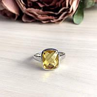 Серебряное кольцо DreamJewelry с цитрином nano 4.78ct (2045281) 17.5 размер