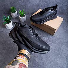 Мужские кроссовки Реберу Pobedov (зимние) (полностью черные), фото 2