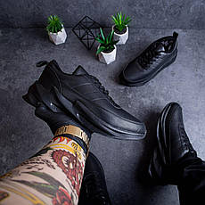 Мужские кроссовки Реберу Pobedov (зимние) (полностью черные), фото 3