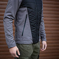 Мужская куртка Rafael Pobedov (серо-черная), фото 3