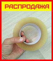 Скотч лента клейкая прозрачная упаковочная 45х300м, липкая лента скоч канцелярский