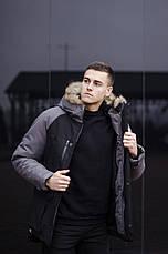 Куртка Парка зимняя мужская 'Seniora udacha' Pobedov (черная с серым), фото 3