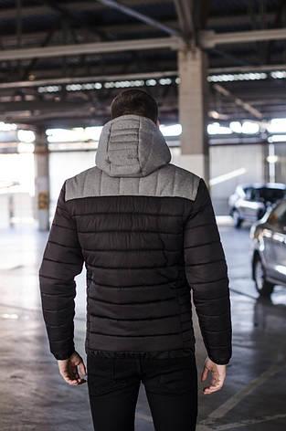 Куртка мужская зимняя 'Rise' Pobedov (черная с серым), фото 2