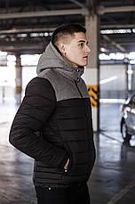 Куртка мужская зимняя 'Rise' Pobedov (черная с серым), фото 3