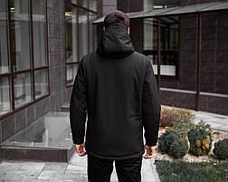 Куртка Парка зимняя мужская Soft Shell 'Tetris' Pobedov (черная), фото 3