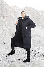 Мужская куртка-пальто зимняя 'Champion' Pobedov (черная), фото 2