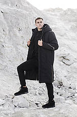 Мужская куртка-пальто зимняя 'Champion' Pobedov (черная), фото 3