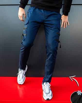 Мужские штаны зимние 'Mezhigorye zimniye' Pobedov (синие), фото 2