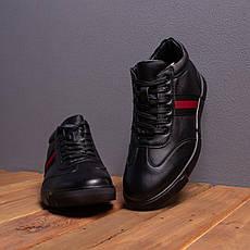 Мужские ботинки Калах 387 Pobedov (черные с красной полоской), фото 3