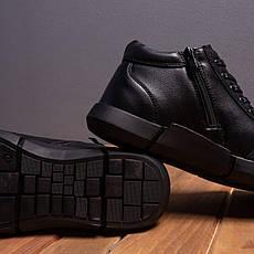 Мужские ботинки Калах 387 Pobedov (черные с красной полоской), фото 2