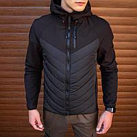 Куртка Soft Shell combi V2 Pobedov (черная)
