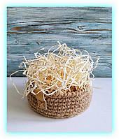 Древесная декоративная стружка для коробок и боксов, наполнитель солома упаковочная (200 грамм) Ель