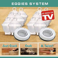 Формочки для варки яиц без скорлупы 6шт (Eggies).Новинка!!!