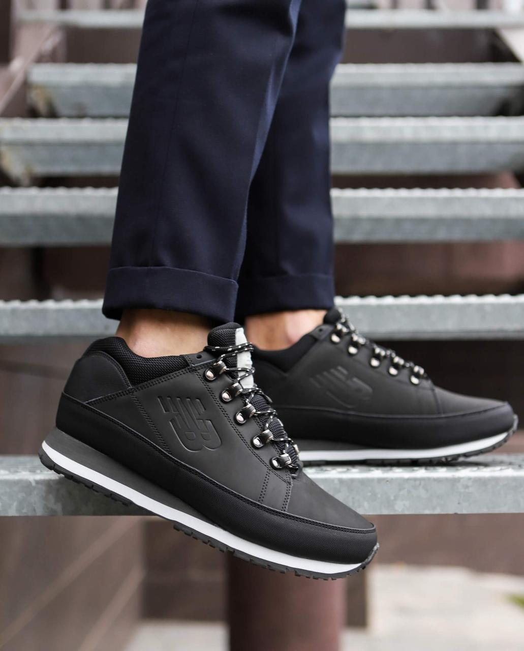 Мужские ботинки 754 высокие Pobedov (черные с белой подошвой)