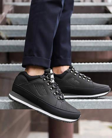 Мужские ботинки 754 высокие Pobedov (черные с белой подошвой), фото 2
