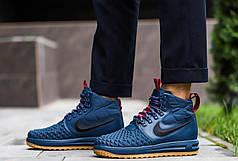 Мужские кроссовки Дак Бутс АФ1 высокие Pobedov (хаки), фото 2