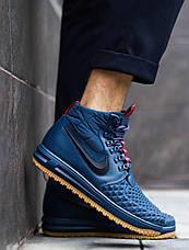 Мужские кроссовки Дак Бутс АФ1 высокие Pobedov (хаки), фото 3