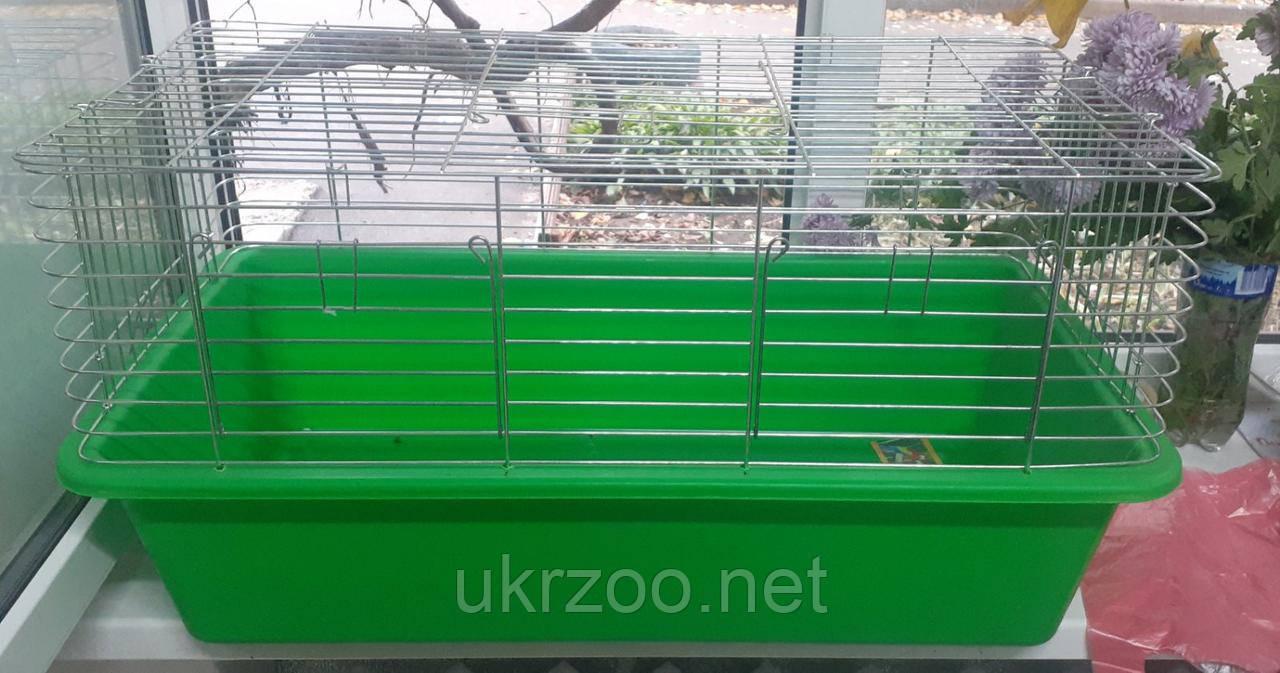 Клетка 80х45х45 см СТ кролик 80 цинк для кролика, морской свинки