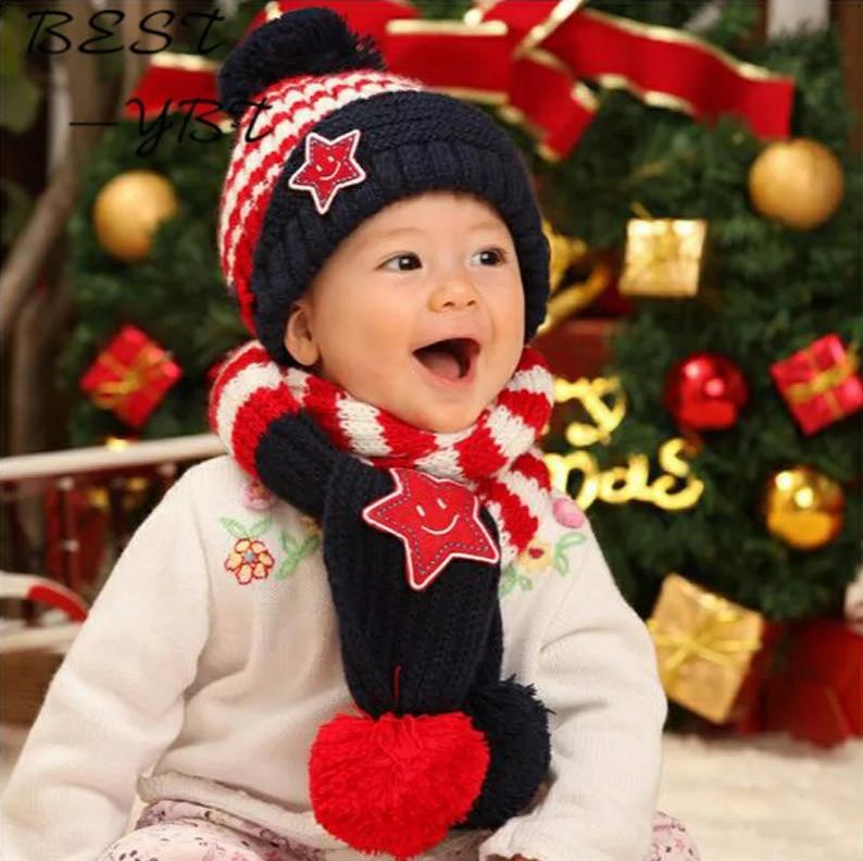 Дитячий теплий набір шапка+шарф
