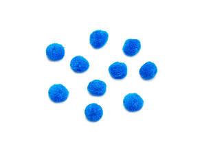 Помпоны имитация меха для творчества 2.0 см, Голубой