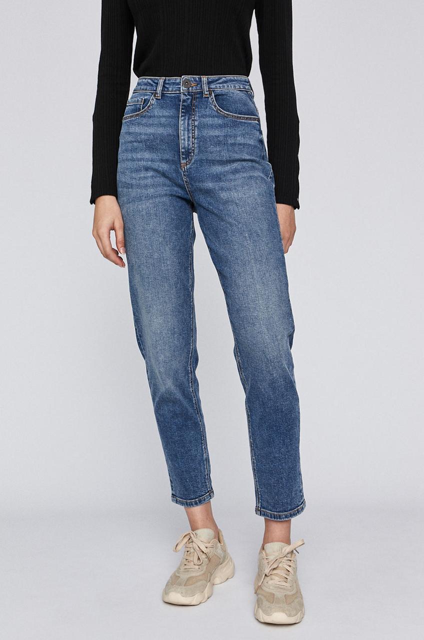 Женские джинсы c завышенной талией голубые Medicine