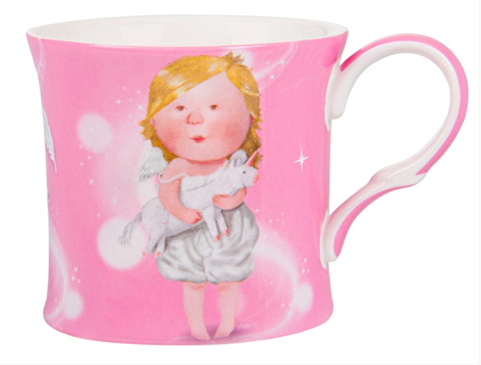 "Чашка фарфоровая, розовая ""Love you more"" Gapchinska, 270мл"