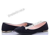 """Балетки женские 111 ч.волны (8 пар р.36-40) """"Makers Shoes"""" LB-5096"""