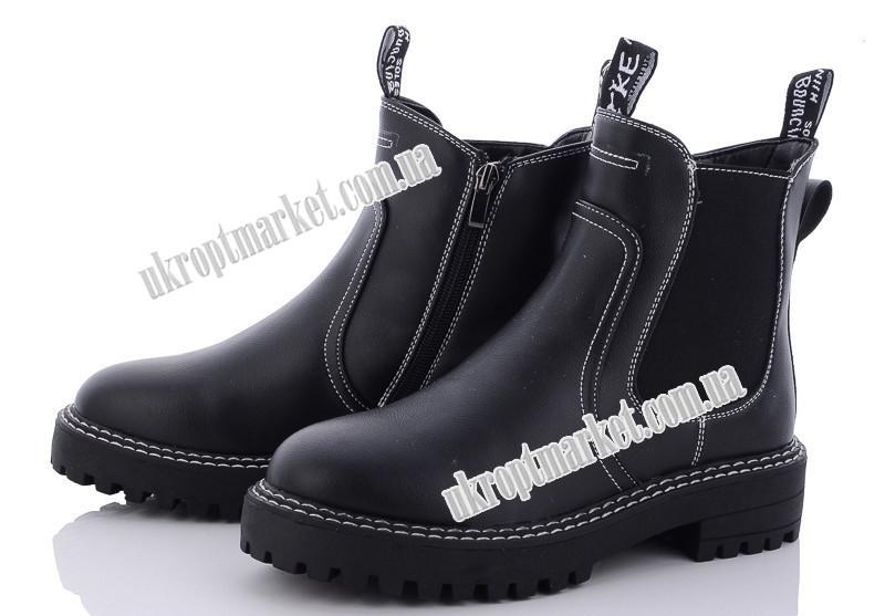 """Ботинки женские 166-62 black (8 пар р.36-41) """"Violeta"""" LB-1125"""