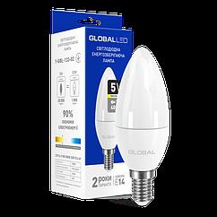 Лампочка світлодіодна Global Led 1-GBL-132 C37 CL-F 5W 4100K 220V E27 AP