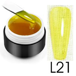 Витражный гель-глазурь, 5 мл, №L21 (желтый)