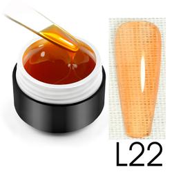 Витражный гель-глазурь, 5 мл, №L22 (светло-оранжевый)