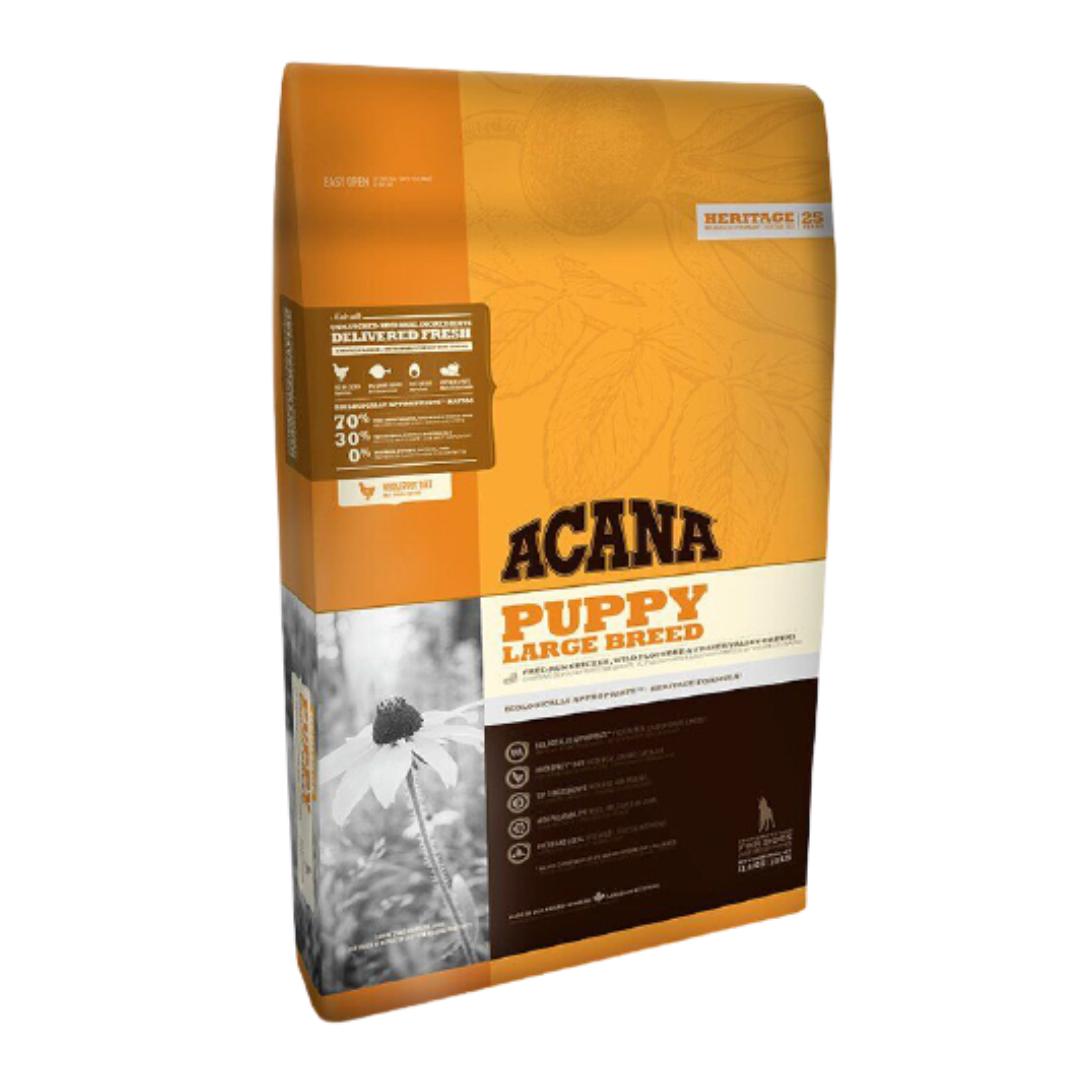 Корм Acana Puppy Large Breed Акана Папi Лардж Брiд для цуценят великих порід курча та камбала 17 кг