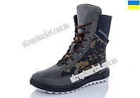 """Ботинки мужские 2101 зеленый (6 пар р.41-45) """"Makers Shoes"""" LB-5096"""