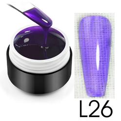 Витражный гель-глазурь, 5 мл, №L26 (фиолетовый)