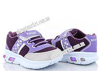 "Кроссовки детские 00020 фиолет.-бежев. LED (8 пар р.22-25) ""Makers Shoes"" LB-5096"