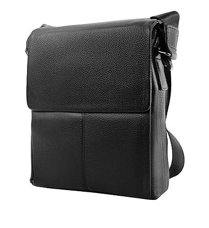 Мужская сумка планшетка через плечо из натуральной кожи