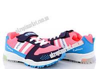 "Кроссовки детские 320 голубо-розовый LED (7 пар р.28-29) ""Makers Shoes"" LB-5096"