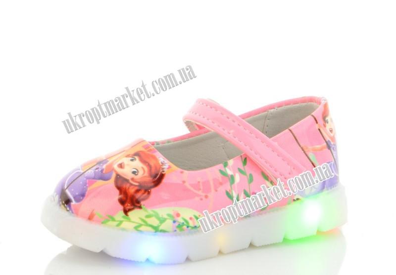 """Туфли детские 857-3 LED (8 пар р.21-26) """"Nexter"""" LMP-2130"""