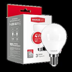 Світлодіодна Лампочка Maxus Led 5411 G45 F 4W 3000K 220V E14