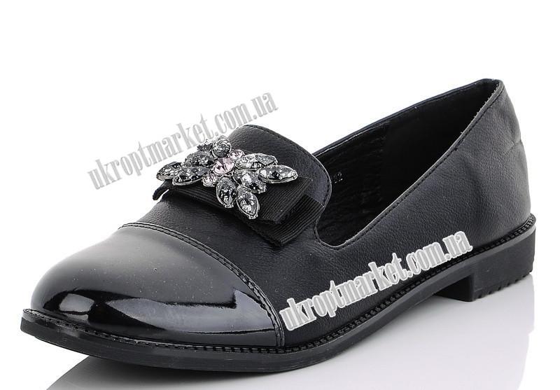 """Туфли женские 6782 черный (8 пар р.36-41) """"Maiguan"""" LZ-1463"""
