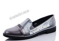 "Туфли женские 6786 silver (8 пар р.36-41) ""Maiguan"" LZ-1463"