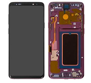 Модуль для Samsung Galaxy S9 Plus, Samsung G965 фиолетовый, дисплей + сенсор