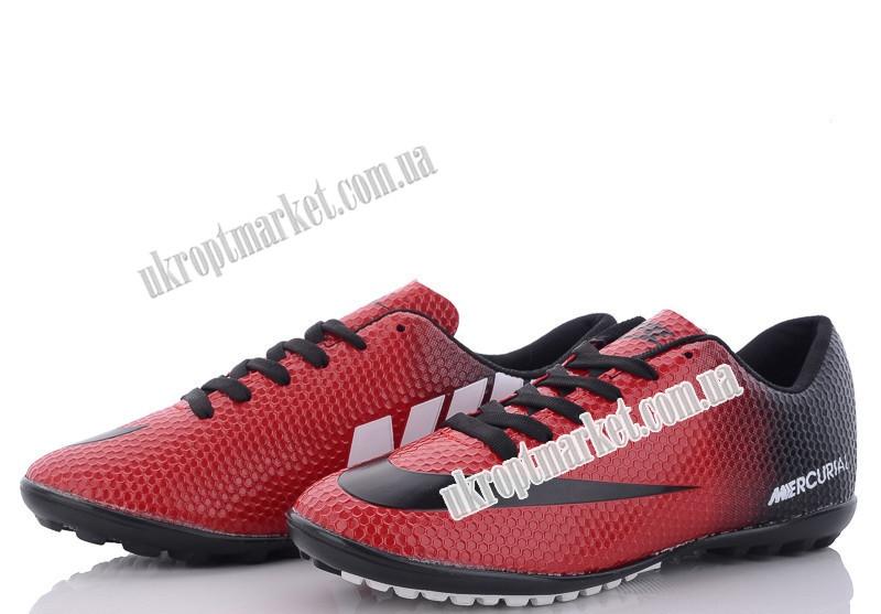 "Футбольная обувь детские Nike Mercurial red-black(36-39) (8 пар р.36-39) ""VS"" GB-5138"